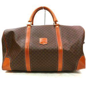 Auth Celine Travel Bag Brown Macadam #3453C10